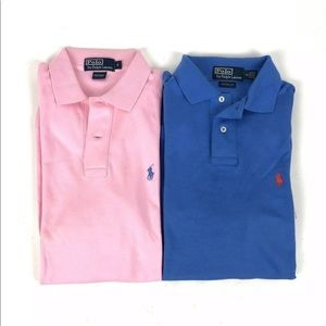 EUC Lot of 2 Polo by Ralph Lauren Mens Polo Shirt